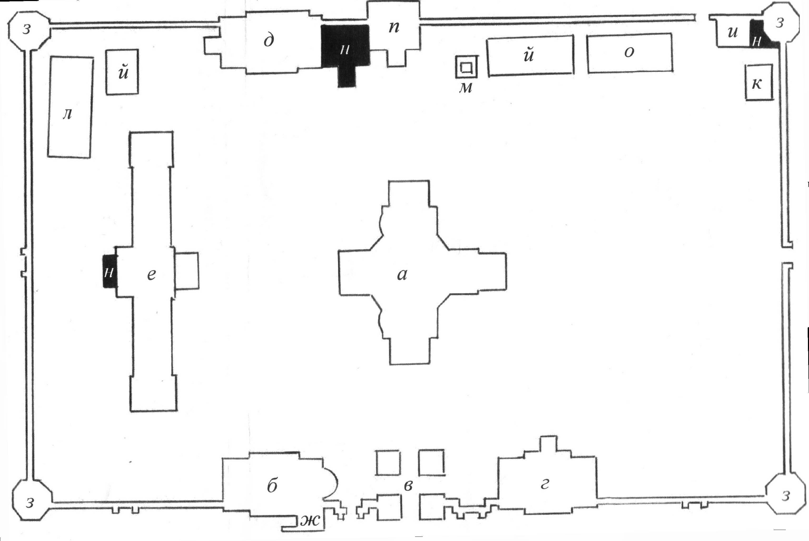 планы и схемы церквей